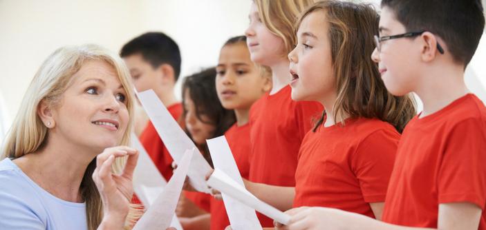 aula de música na educação infantil
